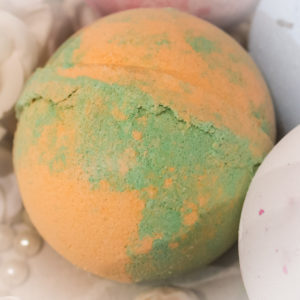 Mega Mango Bath Bombs, deliciously scented huge 180g bath bombs. Sink into a warm fizzing bath of pure tropical fruit paradise with soothing shea butter.