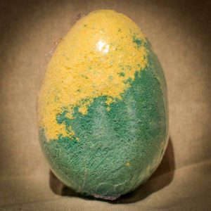 Green & Yellow dragon egg bath bomb