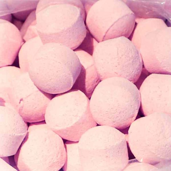 Rose scented mini bath bombs chill pills